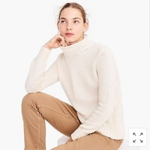 Lands End mock turtleneck knit sweater